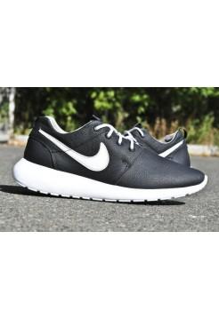 Nike Roshe Run кожа Черный (V-341)