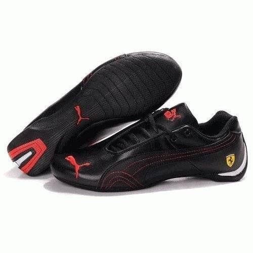 Кроссовки Puma Ferrari Low Черно-красные (О711)
