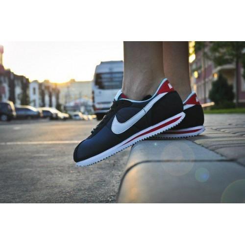 Кроссовки Nike Air Cortez Nylon Синие (V-247)