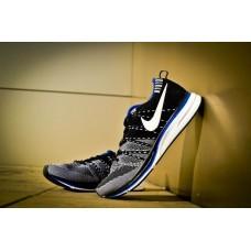 Кроссовки Nike Flyknit Черно/белый (Р-724)