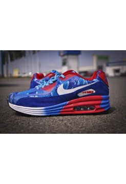 Кроссовки Nike Air Max Blue/Red (V-163)