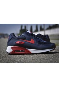 Кроссовки Nike Air Max 90 Темно-синие (V-112)