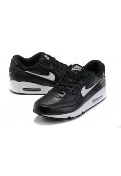 Кроссовки Nike Air Max 90 Black Кожа (V-116)