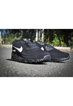 Кроссовки Nike Air Max 90 Черно-белые (V-126)