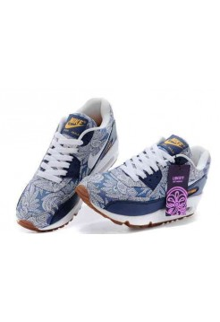 Кроссовки Nike Air Max 90 Liberty Of London Синие (VОЕ-128)