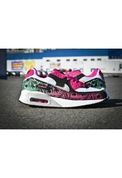 Кроссовки Nike Air Max 90 Цветы (V-130)