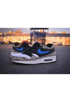 Кроссовки Nike Air Max 87 Черно-синие (V-716)