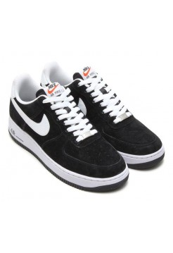 Кроссовки Nike Air Force suede black/white (АМ515)