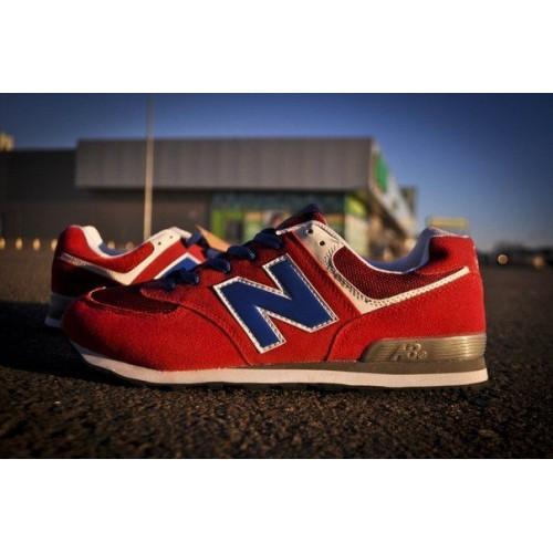 Кроссовки New Balance 574 Красные (V-167)