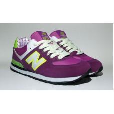 Кроссовки New Balance 574 Фиолетовые (V-168)