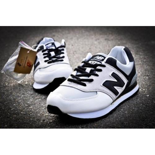 Кроссовки New Balance 574 Бело-черные (V-115)