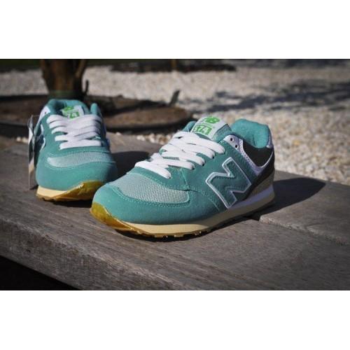 Кроссовки New Balance 574 Зеленые (V-116)