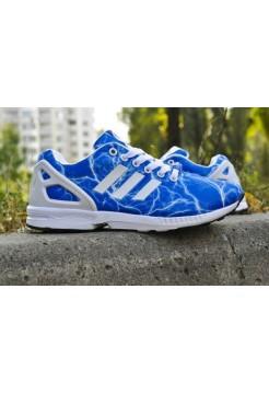 Кроссовки Adidas Zx Flux Синий (V-341)