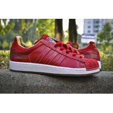 Кроссовки Adidas Superstar Красные (V-125)