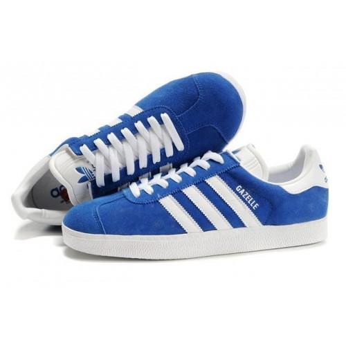 Кроссовки Adidas Gazelle Синие (W311)
