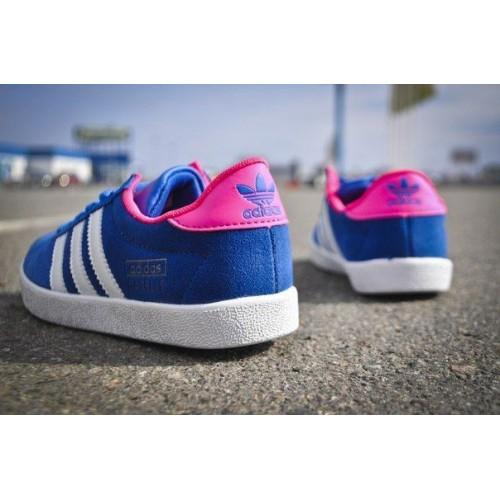 Кроссовки Adidas Gazelle OG Синий (V-313)