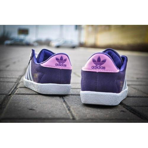 Кроссовки Adidas Gazelle Сине-белые (V-314)