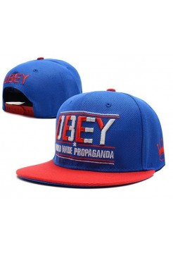 Кепка Snapback Obey Сине-красная (V-247)