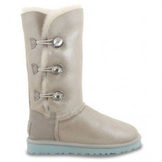 UGG BAILEY BUTTON TRIPLET Белый Кожа