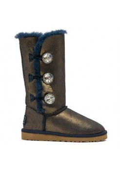 UGG BAILEY BUTTON TRIPLET Bing Blue Gold (Е443)