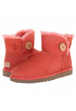 UGG Mini Bailey Button Red (О-517)