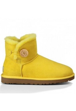 UGG Mini Bailey Button Yellow (О-572)