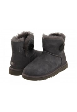 UGG Mini Bailey Button Grey