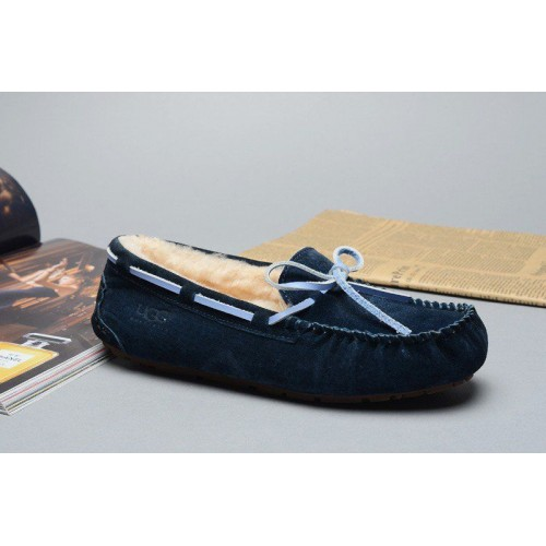 Мокасины UGG Dakota Slipper Navy Blue (О-321)