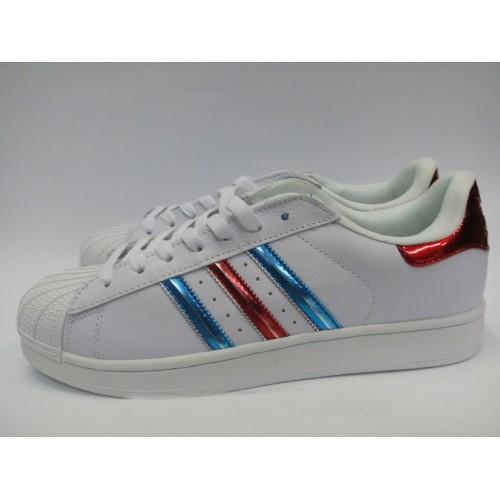 Кроссовки Adidas Superstar Радуга (М124)