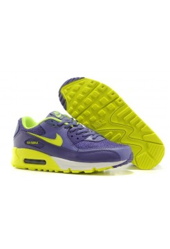 Кроссовки Nike Air Max 90 Premium Purple Lime (О766)