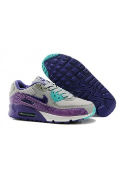 Кроссовки Nike Air Max 90 Premium Black Purple Grey (О563)