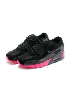 Кроссовки Nike Air Max 90 Premium Black Pink (О-357)