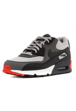 Кроссовки Nike Air Max 90 Essential Серый/красный (V-157)
