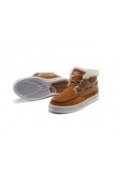 Nike High Top Fur Коричневые (О-321)