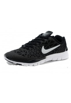 Кроссовки Nike Free Run 5.0 Черно-Серебряные (M-128)