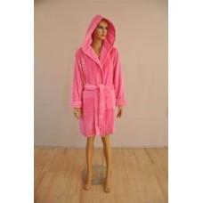 Женский халат велюровый Nusa ns 3015 Розовый