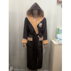 Мужской халат велюровый Nusa ns 7160 коричневый