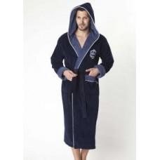Мужской халат велюровый Nusa ns 2820 синий