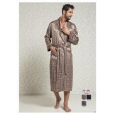 Мужской халат Nusa ns 12500 бежевый