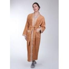 Женский халат махровый Mariposa Терракот кант: Серебро, классик