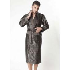 Мужской шелковый халат Nusa ns 8015 хаки