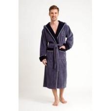 Мужской халат велюровый Nusa ns 7160 серый