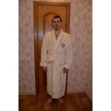 Мужской халат махровый Nusa ns 2725 кремовый
