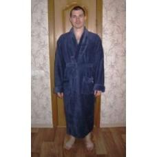 Мужской халат велюровый Nusa ns 2715 серый