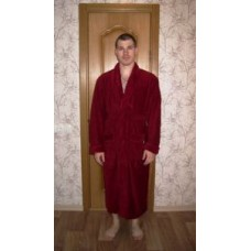 Мужской халат велюровый Nusa ns 2715 бордовый