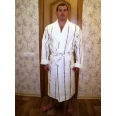 Мужской халат велюровый Nusa ns 2240 крем