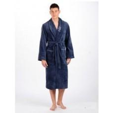 Мужской халат велюровый Nusa ns 2195 синий