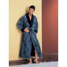 Мужской халат велюровый Nusa ns 2010 синий