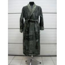 Мужской халат велюровый Nusa ns 2000 хаки