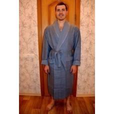 Мужской халат вафельный Nusa ns 15120 серый